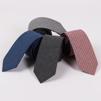 Wholesale Men Ties Fashion Casual Male Suit Necktie Classic Men Cotton Plaid Tie Cravats