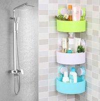 Wholesale High Quality Cute Bathroom Corner Storage Rack Organizer Shower Wall Shelf with Suction Cup