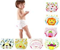 Wholesale 2016 New Cheap Infant Cotton Child Bread Panties Cartoon Training Pants Toddler Cozy Underwear Pant Baby Potty Wrap Diaper Cover MC0108