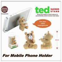 bears snow - Cartoon phone Holders teddy bear Frozen snow treasure little sucker Cartoon lazy mobile phone holder for mobile phone