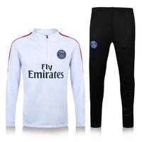 Wholesale 2016 New PSG tracksuit THIAGO MOTTA MATUIDI PASTORE Maillot de foot survetement sportswear PSG training suit soccer Uniforms