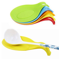 Wholesale Kitchen Silicone Spoon Rest Heat Resistant Non stick Silicone Cooking Tools Mat Kitchen Accessory PC