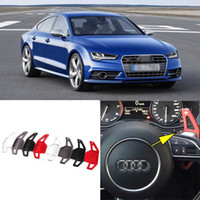 auto shifters - Auto parts High Quality Alloy Add On Steering Wheel DSG Paddle Shifters Extension For Audi S7