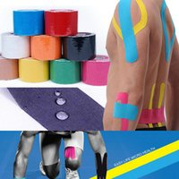 Wholesale Hot Muscle Tape cm x m Sports Tape Kinesiology Tape Cotton Elastic Adhesive Muscle Bandage Care Physio Strain Injury Support