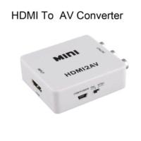 Wholesale New P HDMI to AV Adapter HDMI to CVBS Converter HDMI RCA Signal Adapter NTSC PAL Adapter for TV PS3 VHS VCR