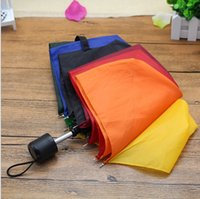Wholesale cheap three folding nonautomatic rainbow umbrella rain plegable windproof paraguas mujer