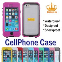Wholesale For the iphone button type special waterproof and dustproof dedicated retail mobile phone protection shell