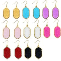 Wholesale Gometric Kendra Scott Style Earrings Glittery Chandelier Dangles for Women Bulk Price