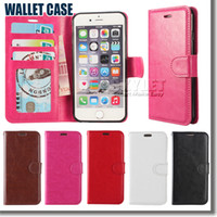 Wholesale Wallet Case For Galaxy S7 Iphone Case Wallet PU Leather Case Cover Pouch With Card Slot Photo Frame For LG LS Cases Opp Package