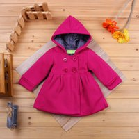 baby girl pea coats - Baby Girl Toddler Warm Fleece Winter Pea Coat Snow Jacket Suit Clothes Red Pink