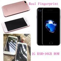 Dual sim android 16gb Prix-Goophane réel i7 plus 1 Go de RAM 16 Go 1: 1 clone téléphones cellulaires 5,5 pouces MTK6580 montrent 4g lte Corps en métal