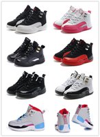 elastic band - Kids Nike Air Jordan Retro GS Shoes Children Basketball Shoes Boy Girl AJ12 Sports Shoes Toddlers Jordan Athletic Shoes Birthday Gift