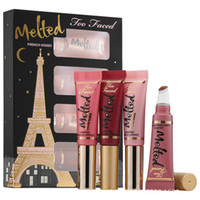 berry long - French Kisses Lip Gloss Liquified Long Wear Lipstick Make up Gift Set Kit Lips Balm ml Melted Faced macaron berry