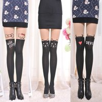 Wholesale 2016 Hot Sale women Long socks Tights in Store stockings long over knee high socks black stockings Splicing silk stockings high tights