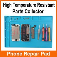 bga soldering temperature - Heat Gun BGA Soldering Station Insulation Silicone Pad High Temperature Resistant Anti static for iPhone Computer Repair Mat