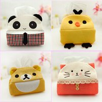Wholesale Cute Panda Tissue Box Cloth Napkin Holder Seat Type Tissue Case for Home Decoration