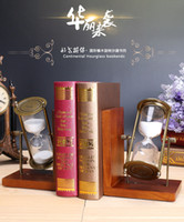 Wholesale Crystal transparent minutes hourglass sandglass Time Counter full glass heart shape with bookend Creative Gift Home Décor cooking