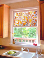 bathroom stone walls - No glue static glass Glass window stickers sunscreen insulation Continental kitchen color stone flower decoration Zhichuang new