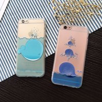 Cheap Funny Cartoon Whale Case For Apple iphone 6 6S Plus Fashion Cute Fish Back Cover Phone Cases Coque Capa