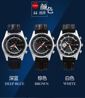 add straps dress - Added Leather Strap Men Sports Watch three Hole new table Hot explosion models Leather Watch spot