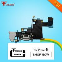 al por mayor flex prueba iphone-para el iPhone 6 conector del cargador del muelle de carga del puerto Flex Cable para auriculares audio jack de piezas de repuesto de reparación 100% Probado alta calidad