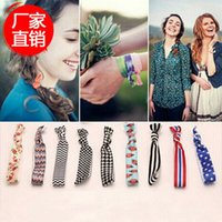Wholesale Pretty Knot Elastic Hair Tie Hairband Rubber Band Ponytail Holder Bracelets Silk cloth knotted headwear hair accessories simple