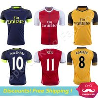 Wholesale Top quality Soccer Jersey fc football shirts OZIL ALEXIS WALCOTT RAMSEY Soccer Jerseys Soccer Wear