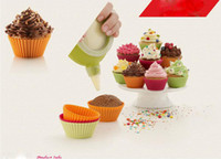 Wholesale Free DHL Silicone Baking Mold cm Cakes Molds Non stick Muffin Snacks Gelatin Bakeware Cupcake Liner Baking Molds