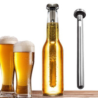 Wholesale Stainless Steel Beer Wine Liquor Chiller Cooling Ice Stick Rod In Bottle Pourer Beer Chiller Stick Chill Alcohol Ice Drinks Wine Cold