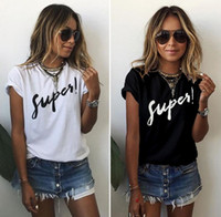 Wholesale summer new women s casual letters printed T shirts cheap woman shirts short sleeve tees fashion tops women