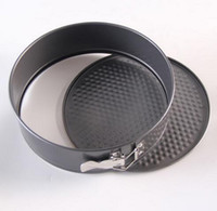 Wholesale 50pcs Inch Non stick bottom die live round cake pan cake plate of stainless steel cm in diameter