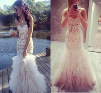 belly length - France Lace Mermaid Prom Dresses Sheer Belly Sheer Tulle Vestidos de Longo Formal Party Evening Gowns
