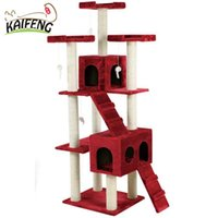 Wholesale On Sale Cat Toys New Cat Tree Tower Condo Furniture Scratch Post Kittens Pet House Play free shopping with box mouse