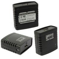Cheap Beautiful Gift New USB 2.0 LPR Printer Print Server Hub Adapter Ethernet LAN Networking Share Free Shipping Jan19