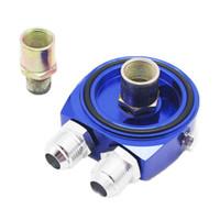 Wholesale GS Universal High Performance AN10 Blue color Aluminum Sandwich Oil Adapter Filter Cooler Plate Kit GS FT