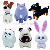 animal buddy - Ty The Secret Life of Pets Max Snowball Gidget Mel Chloe Buddy Plush Medium CM Kids Stuffed Animals Toys For Children Gifts