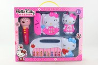 Wholesale New HELLO KITTY early childhood music keyboard music phone music phone and microphone Four educational toys Mother gave the baby the best