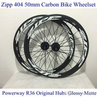 ZIPP 404 Strada Ruote Qualità Black White Carbon Bike completa montate T800 50mm R36 Mozzi e Kit Shimano Cycling Dischi lucido opaco