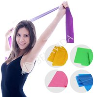 Wholesale 1 m Yoga Pilates Stretch Resistance Band Exercise Fitness Band Training Elastic Exercise Fitness Rubber cm High Quality
