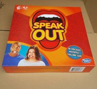 Wholesale Speak Out Board Game Speak Out hasbro gaming the ridiculous mouthpiece challenge game set card game playing cards game