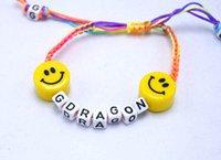 alphabet beads ceramic - Handmade jewelry charm bracelets for women GD emoji ceramic beads bracelet Korean alphabet activity statement bracelet ZD095A