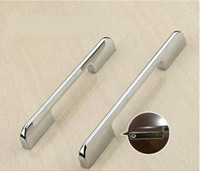 antique steel furniture - Shiny Cabinet Handle and Knobs Zinc Alloy Antique Kitchen Drawer Furniture Pulls Shiny Chrome Color