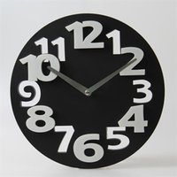 Wholesale Fashion Wall Clock color Cute plastic D modeling wall clock metal wall clock silent metal pointer movement