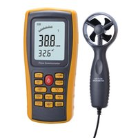 Wholesale New Digital Air Flow Anemometer Wind Speed Meter Flow Tester Air Temperature Meter Measuring m s with USB Interface anemometro GM8902