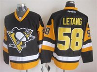 Wholesale 58 Kris Letang Stanley Cup Final Men Ice Hockey Pittsburgh Penguins Black Jersey Stitched Name Number Free Drop shipping