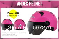 Wholesale rotective Gears Helmets quot Andes X333 D quot ABS Cycling Bicycle Scooter Half Face Casco Motorcycle Bright Pink Helmet