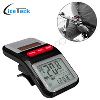 Wholesale Multifunction LCD Solar Power Bicycle Bike Speedometer Pedometer Odometer Cycling Computer