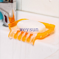 Wholesale Clear Color Suction Draining Cup Holder Bathroom Shower Soap Dish Tray Storage Excellent Quality