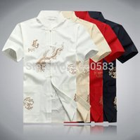 Wholesale High Quality Traditional Chinese Clothing Men s Tang suit Tops kung fu wushu shirt