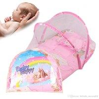 Wholesale Amazing New Summer Baby Bed Crib Mosquito Netting Cushion Portable Infant Folding Babies Mosquito Net Mattress